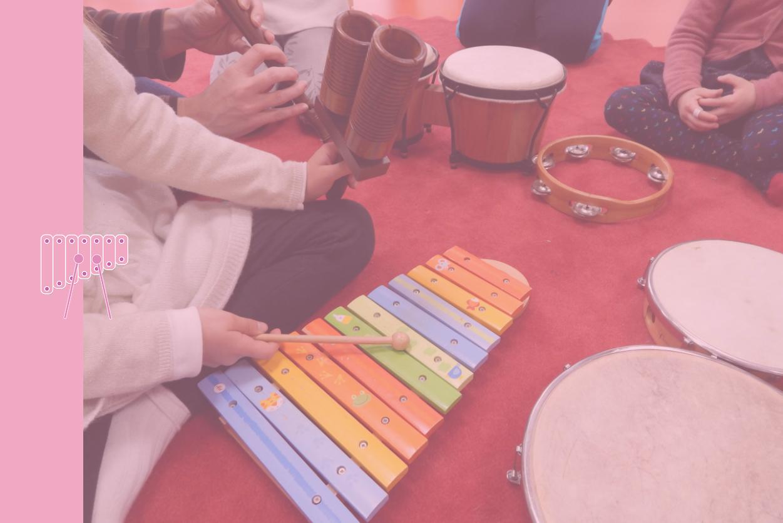 cours d'éveil musicale de l'école de musique de Collioure